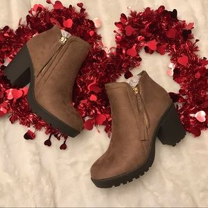 New brown booties